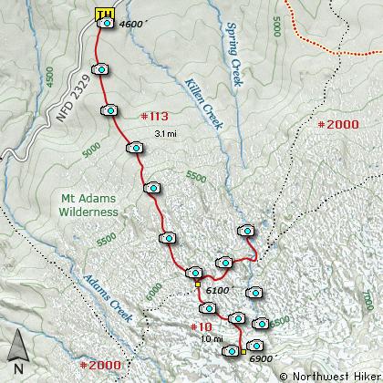 Killen Creek, High Camp, Mt Adams Wilderness, PCT Hike