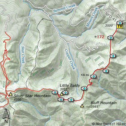Little Baldy Mountain, Silver Star Mountain Hike on silver mountain food, silver mountain dining, silver mountain gondola, genius files cross country map, harriman state park hiking trails map, silver mountain resort, silver mountain tubing hill, pierce idaho map, silver mountain snow report, snowshoe mountain terrain park map, silver mountain kellogg idaho, silver mountain water, silver mountain ski conditions, silver mtn map, 93 ski map, silver mtn resort idaho, us ski hill map, british columbia map, alpine lakes map, mountain resort map,