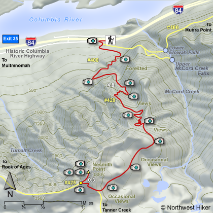 Nesmith Point Hike map