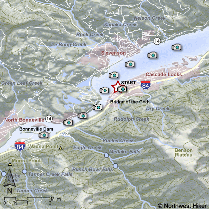 Columbia Trail Map Map of The Columbia Gorge