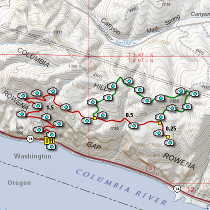 Cherry Orchard Hike map