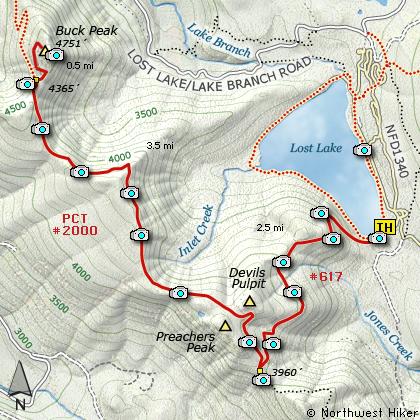 lost lake oregon map Buck Peak Via Lost Lake Th Hike lost lake oregon map