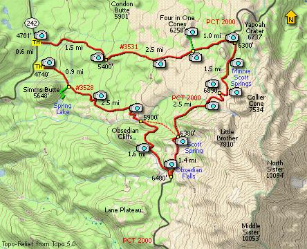 Obsidian Basin, Three Sisters Wilderness, Opie Dilldock Pass ...